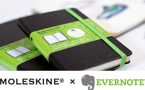 EvernoteとMOLESKINEが連携するとは嬉し過ぎる