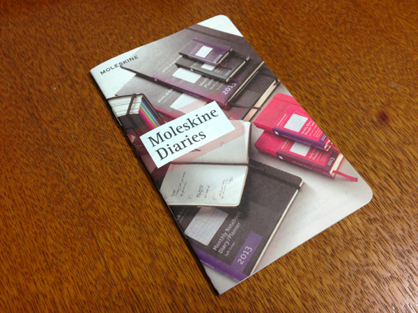 Moleskine Diaries のカタログを貰ってきた