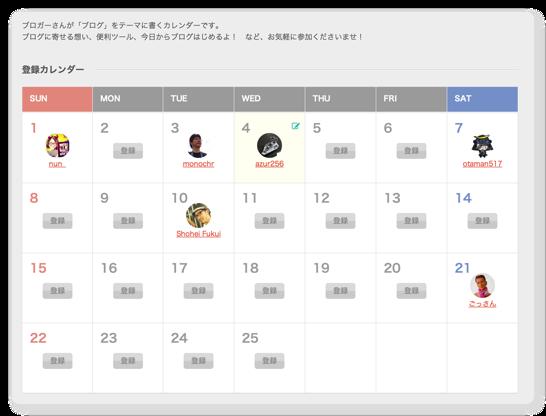 Blog Advent Calendar 2013にエントリしました!