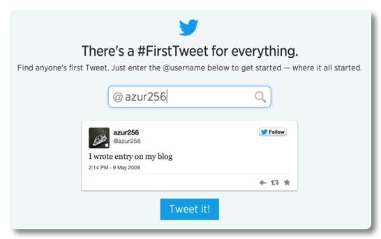 初めてのツィートを見つけることができる Discover your first Tweet をやってみた