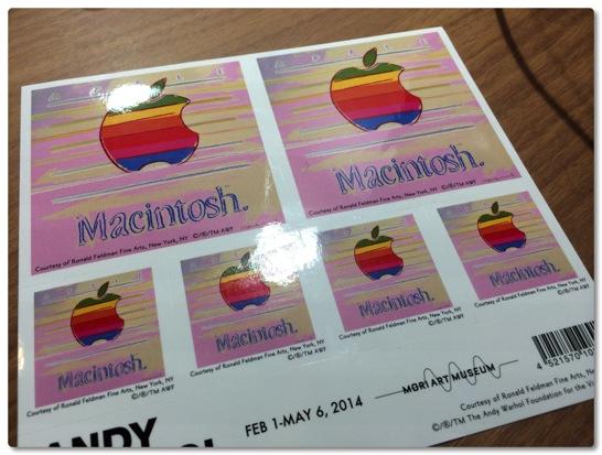 アンディ・ウォーホルが描いたMacintosh POPのステッカーをいただきました!