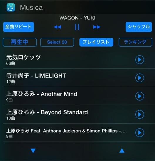 iPhone で音楽を聴く人には Musica ウィジェットをお勧めします。ほんのちょっとのことですがストレスフリーになります