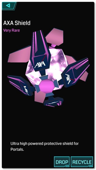 イングレスの新たな提携先 AXA からレアシールドがリリースされましたね、やたらと大盤振る舞いな気がします