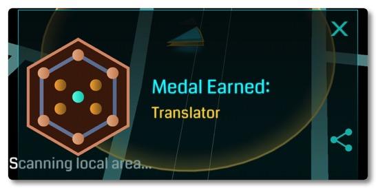 イングレスにまたしても新しいメダル Translator が登場、グリフハックを頑張りましょう!