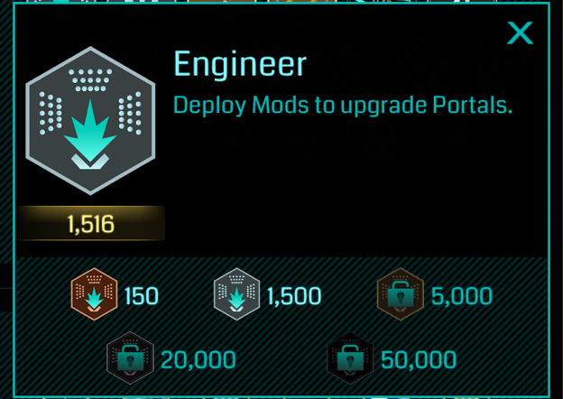 イングレス進捗報告 エンジニアシルバーを遅まきながら獲得しました