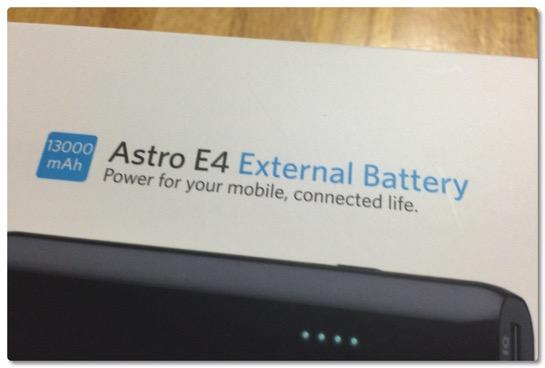モバイルバッテリーが調子悪くなったので、最新型ではなく一つ前の Anker Astro E4 を購入しました。