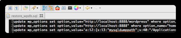 [WP] MAMPにWordPress DBをリストアした後の処理をバッチで自動化する