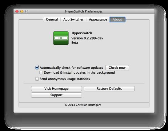 先日 Witch を紹介したばかりだけど、HyperSwitchを使ってみたらこっちも快適だった