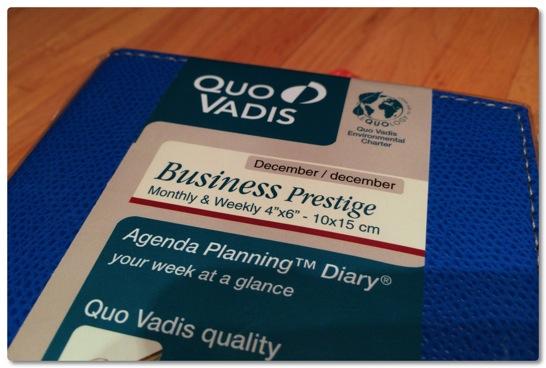 小さいのに使いやすい、来年の手帳もクオバディスのビジネスプレステージにしました
