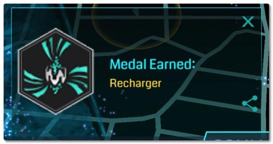 そういえばリチャージャーメダルがプラチナになりました、いま欲しいのはゴールドメダルなんですけどね(汗)