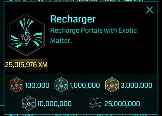 イングレス最初のOnyxメダルは、ど定番のRechargerでした