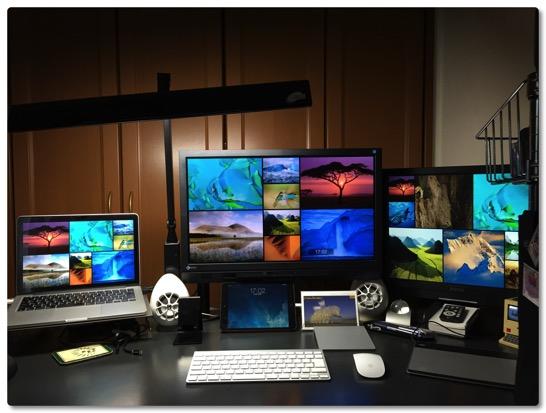 書斎レイアウト変更第二弾、Macbook Proで3面ディスプレイにしてみました