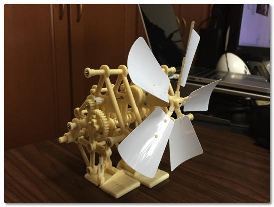 テオヤンセン式二足歩行ロボットを作ってみました