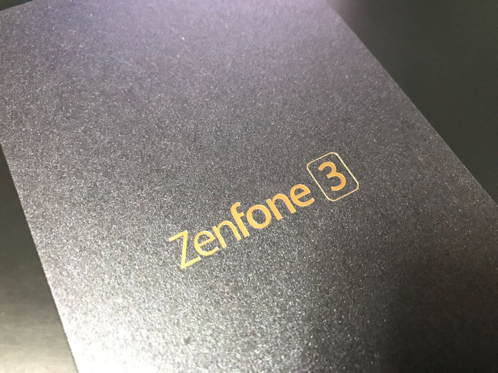 ZenFone 3 ZE520KL 買っちゃいました (NEXUS 5を割ったので)
